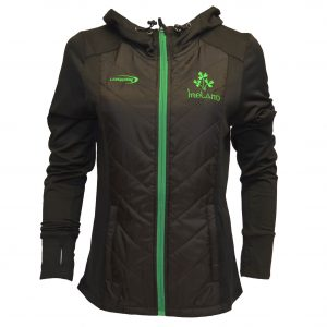 Traditional Craft Limited Black Ireland Quilted Performance Ladies Jacket R4079 ExclusivelyIrish.com