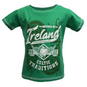 Traditional Craft Limited Green Ireland Celtic Traditions Kids T-Shirt T7525 ExclusivelyIrish.com