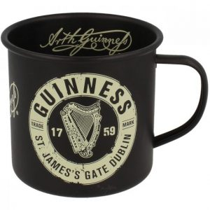 Guinness Enamel Mug Label Black