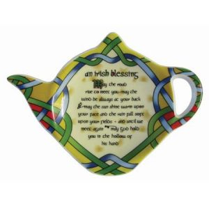 Royal Tara Irish Blessing Tea bag holder - Irish Weave ExclusivelyIrish.com