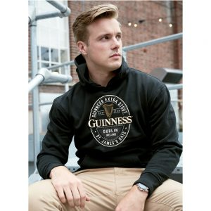 Black Guinness Label St. James Gate Hoodie G5161 ExclusivelyIrish.com