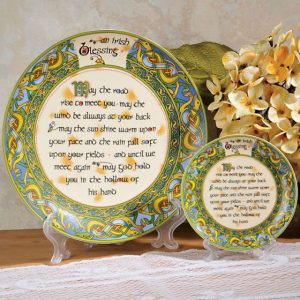 "Royal Tara Irish Blessing 4"" Plate - Irish Weave CL-73-12 ExclusivelyIrish.com"