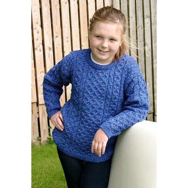 West End Irish Crew Neck Wool Sweater For Kids ExclusivelyIrish.com