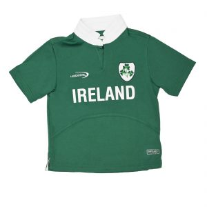 Traditional Craft Limited Lansdowne Green Ireland Shamrock Performance Short Sleeve Kids Rugby Shirt R7176 ExclusivelyIrish.com