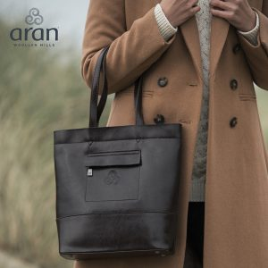 Aran Woollen Mills Leather Large Tote R748649 ExclusivelyIrish.com