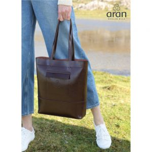 Leather Large Tote with background R748649 ExclusivelyIrish.com