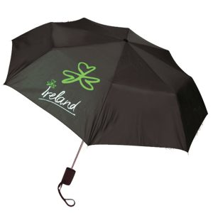Shamrock Gift Company Irish Umbrella Black ShamrockGift.com