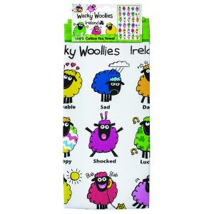 Shamrock Gift Company Wacky Woolies Sheep Single Tea Towel ExclusivelyIrish.com