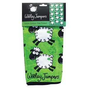 Shamrock Gift Company Wooley Jumper Single Small Tea Towel ExclusivelyIrish.com