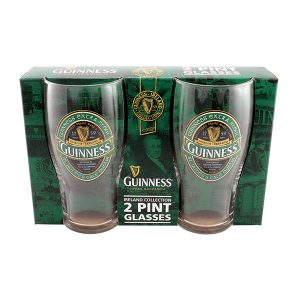 GNS5331 Guinness Ireland Pint Glass Two Pack exclusivelyirish.com