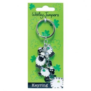 Shamrock Gift Company Wooley Jumper Charm Keyring ExclusivelyIrish.com