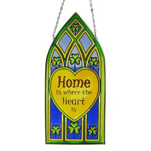 CL-0072-59 Royal Tara Home where heart is' -Gothic Window Hang ExclusivelyIrish.com