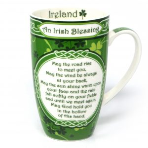 Royal Tara Irish Blessing Mug - Shamrock Garden CL-76-1 ExclusivelyIrish.com
