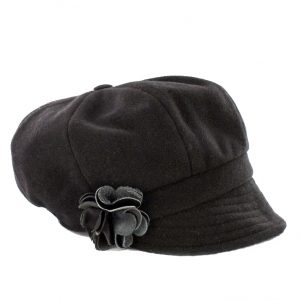 Muckross Weavers Black Newsboy Hat MWNewsboyBLK ExclusivelyIrish.com