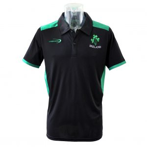 Lansdowne Black Ireland Performance Polo R2032 ExclusivelyIrish.com