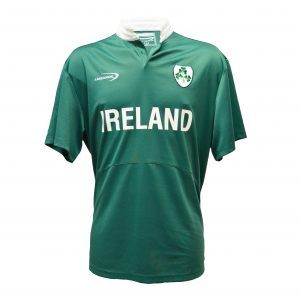 Green Ireland Shamrock Performance Short Sleeve Rugby Shirt R3097 ExclusivelyIrish.com
