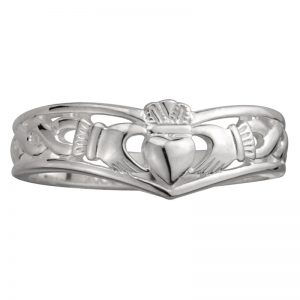 Shamrock Gift Jewelry Sterling Silver Claddagh Wishbone Ring S2595 ExclusivelyIrish.com