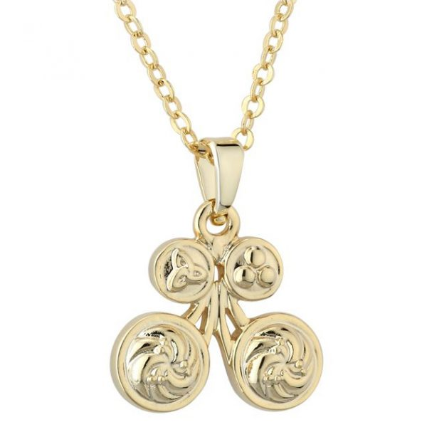 Solvar Gold Plated Book of Kells Celtic Butterfly Pendant S45823/G ExclusivelyIrish.com