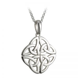 Solvar STERLING SILVER 4 TRINITY KNOT PENDANT S44751 ExclusivelyIrish.com
