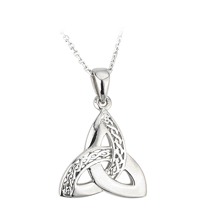 knot stone a with red cz tail trinity chain on llc usa celtic pendant
