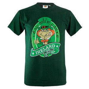 Traditional Craft Limited Bottle Green Cead Mile Failte Leprechaun T-Shirt T1156 ExclusivelyIrish.com