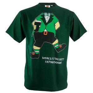 Traditional Craft Limited Bottle Green Worlds Tallest Leprechaun T-Shirt T1157 ExclusivelyIrish.com