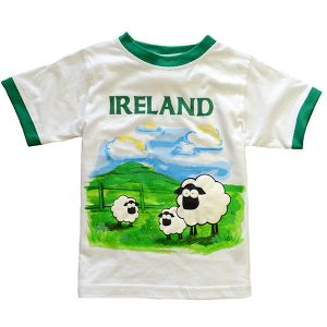 Traditional Craft Limited Green/White Traditional Sheep Irish T-Shirt T7432 ExclusivelyIrish.com