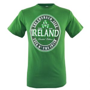 Traditional Craft Limited Emerald Green Luck O' Irish T-Shirt T1233 ExclusivelyIrish.com