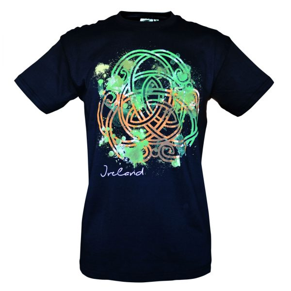 Traditional Craft Limited Black Coloured Celtick Knot T-Shirt T1298 ExclusivelyIrish.com