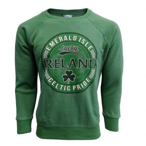 Green Marl Ireland Celtic Pride Sweatshirt T5065 ExclusivelyIrish.com