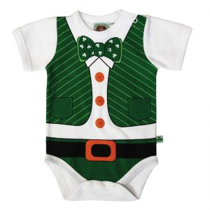Traditional Craft Limited Full Leprechaun Print Babies Vest T7469 ExclusivelyIrish.com