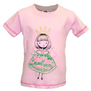 Pink Princess Girl Kids T-Shirt T7491 ExclusivelyIrish.com