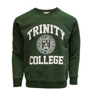 Bottle/White Trinity College Seal Sweatshirt TRIN5005 ExclusivelyIrish.com