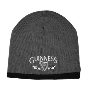Charcoal Guinness Harp Knit Hat