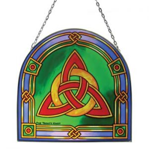 CL-0072-56 Royal Tara Trinity Knot 16cm Stained Glass ExclusivelyIrish.com