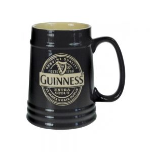 GNS2648 Guinness Black Ceramic Tankard exclusivelyirish.com