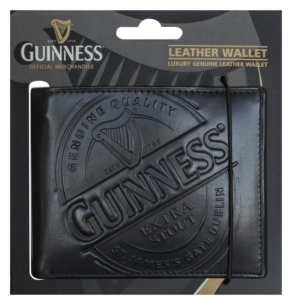 GNS2334 Guinness Label Leather Wallet exclusivelyirish.com