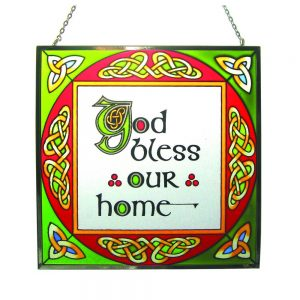 Irish Stained Glass Home Blessing
