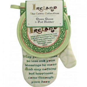Shamrock Gift Company Celtic Collection Oven Glove & Pot Holder-Blessing ExclusivelyIrish.com