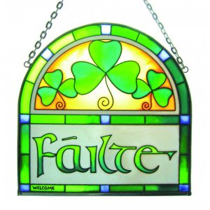 Royal Tara Failte Arch Stained Glass Window Hang CL-0072-22 ExclusivelyIrish.com