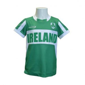 R7150 Emerald/White Ireland Performance Kids Top exclusivelyirish.com