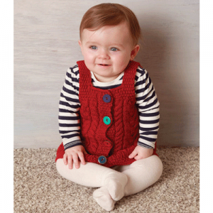Aran Woollen Mills Baby Wool Irish Pinafore Dress Sweater ExclusivelyIrish.com