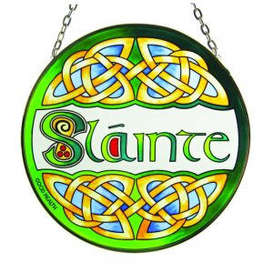Round Stained Glass Slainte