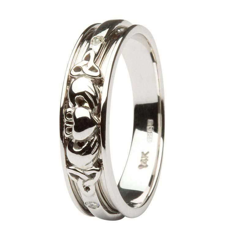 band corrib wedding celtic w page ring claddagh rings