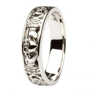 ShanOre Diamond Ladies Claddagh Wedding Ring Set With Celtic Knotwork ExclusivelyIrish.com