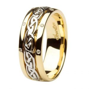 ShanOre Celtic Wedding Ring Ladies Diamond Set Comfort Fit ExclusivelyIrish.com
