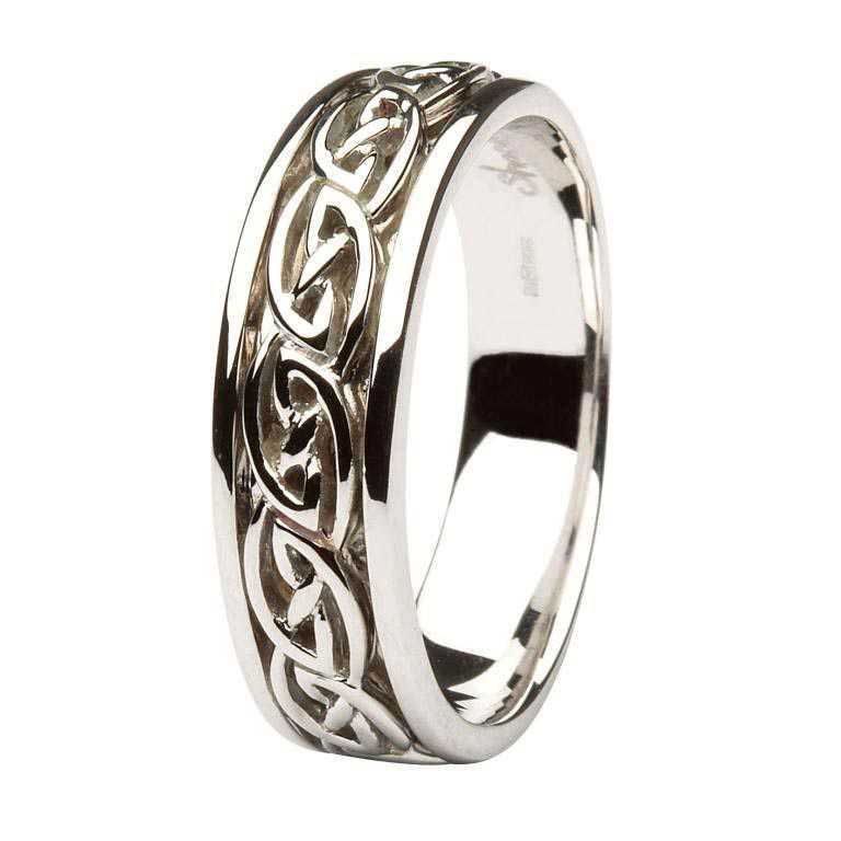 celtic band wedding ring p rings size puzzle knot silver sterling