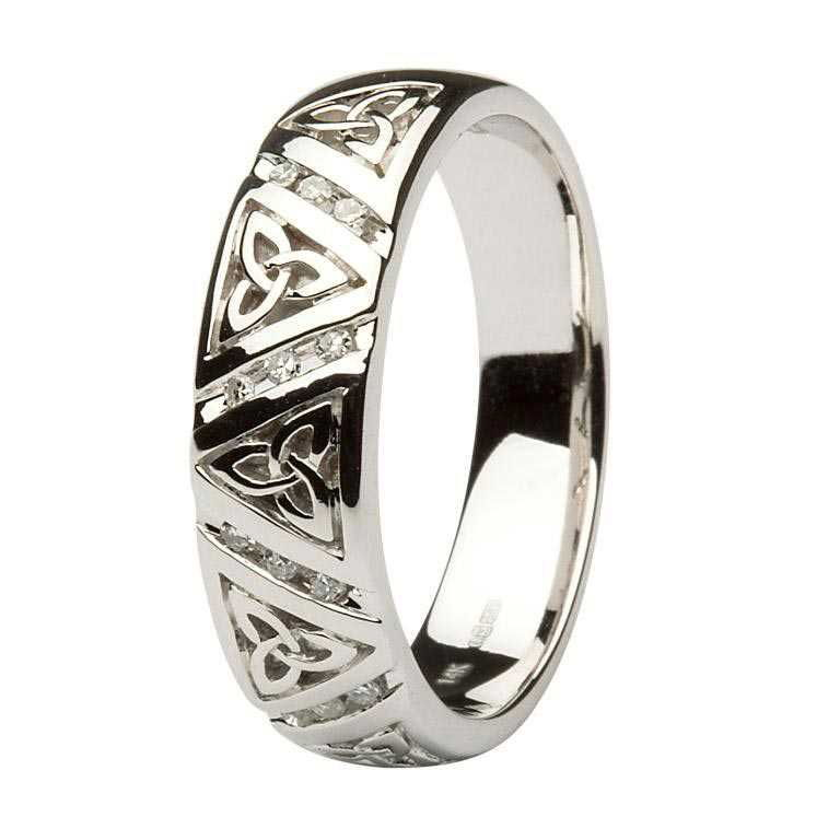 Celtic Knot Wedding Bands.Gents Diamond Wedding Ring With Trinity Knots