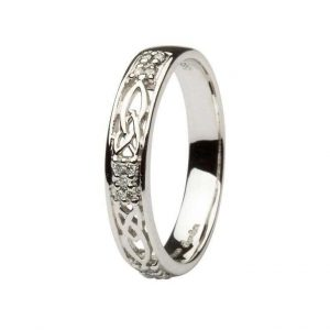 ShanOre Ladies Celtic Three Diamond Wedding Ring ExclusivelyIrish.com