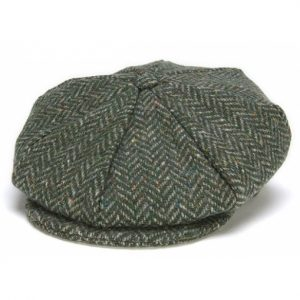 Eight Piece Cap Tweed – Grey Herringbone